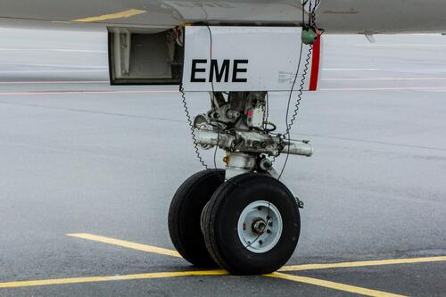 Source One Spares Variety of Programs Train MRO Techs of Tomorrow Close Up of Landing Gear