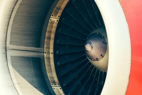 Source One Spares Aviation MRO Play a Key Role Close Up of Jet Engine